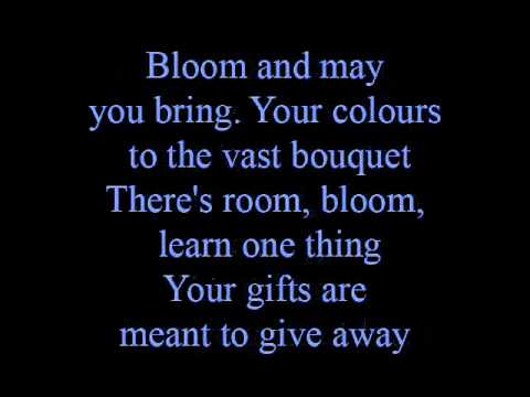 Bloom  lyrics