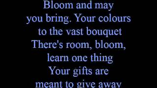 Bloom - lyrics