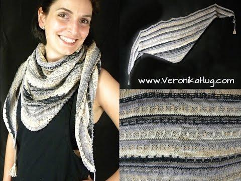 Stricken – Tuch KALIBA – Dreieckstuch flach – Woolly Hugs BANDY Veronika Hug