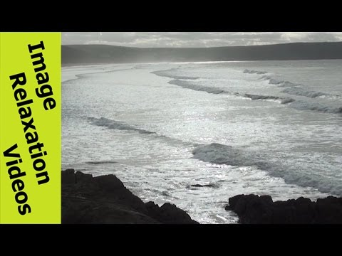 A Pure Embrace Relaxing Music, Ocean Quotes & Ocean Waves, Beach & Bay View from Rocks