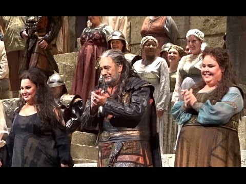 NABUCCO - Domingo; Levine - Met Opera, Dec 12, 2016 - Curtain Calls