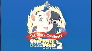 Charlotte's Web 2 - Wilbur's Great Adventure (2003) Trailer (VHS Capture)