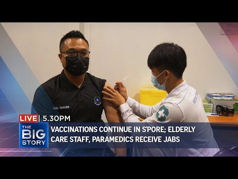 Elder care staff and paramedics get their Covid-19 vaccines | THE BIG STORY thumbnail