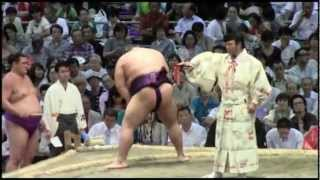 2012年 大相撲名古屋場所6日目 千代大龍vs北太樹。画質悪。.