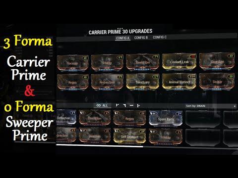 Warframe Build Carrier Prime