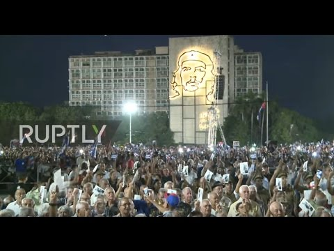 Cuba: Thousands gather to mourn Castro in Revolution Square
