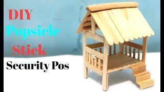 Cara Membuat Miniatur Pos Ronda Dari Stik Es Krim