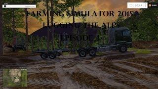 farming simulator 2015 logging the alps episode 4