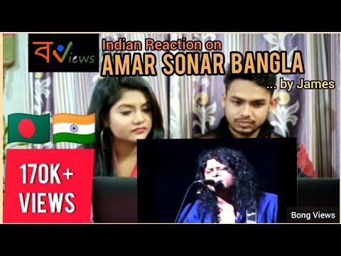 Indian reacts on Bangladeshi video song | Amar Sonar Bangla By James