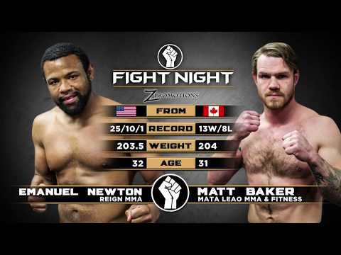 """Fight Night: Medicine Hat - Emanuel """"The Hardcore Kid"""" Newton vs Matt """"the Riotmaker"""" Baker"""