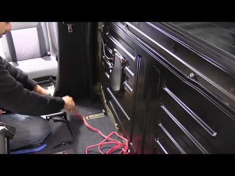 How to route and install subwoofer wire Toyota Tundra