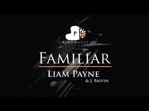 Liam Payne & J. Balvin - Familiar - Piano Karaoke / Sing Along / Cover with Lyrics