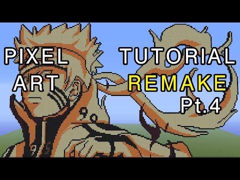 Minecraft Pixel Art Tutorial Remake - Naruto Bijuu Mode Part 4 thumbnail