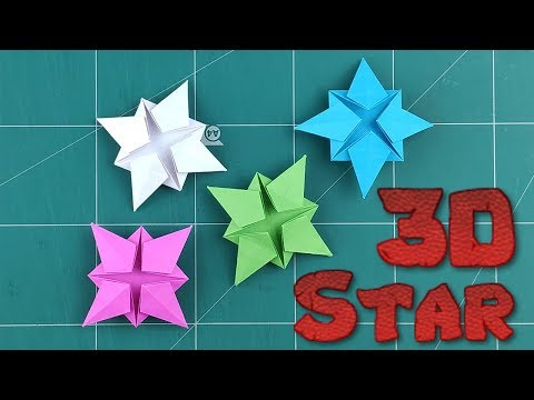 Origami 3D Paper Star Flowers | How To Make a Star Tutorial | DIY Flowers Folding Paper Decoration
