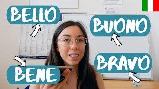 Learn How to Use Italian Words BENE, BRAVO, BELLO, BUONO BENE (avverbio): si usa con i verbi per descrivere come viene svolta un'azione; BRAVO/A/I/E ...