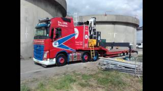 MAC 3 Axle Stepframe Low Loader with Crane