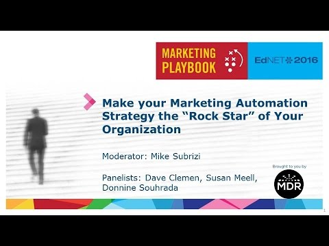 "Make your Marketing Automation Strategy the ""Rock Star"" of Your Organization"