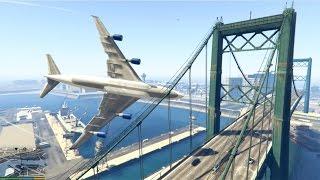 GTA 5 - Amazing/Dangerous PLANE CRASH Compilation #2