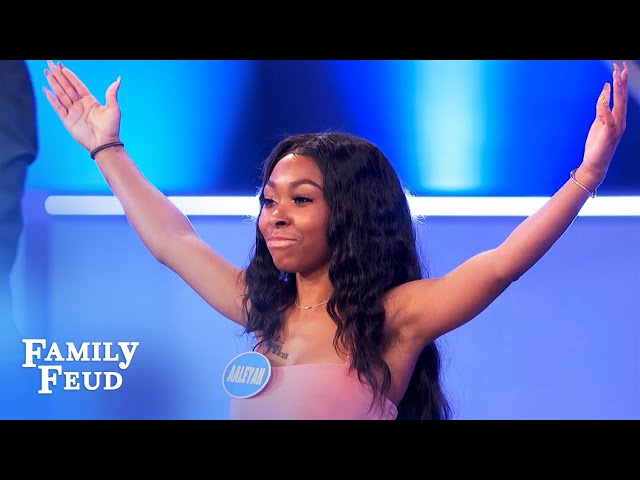 Wow! Aaleyah wins for the Winchesters in Sudden Death! | Family Feud