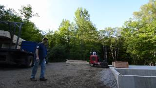 Lumber Arrival - 20 - My Garage Build Hd Time Lapse
