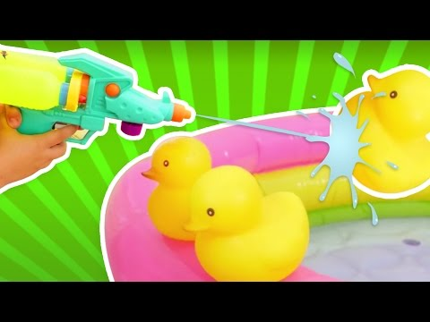 Игры для мальчиков и игры для лета. ОХОТА на уток видео для детей