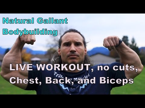 Live NO CUTS, CHEST, BACK, AND BICEPS NATURAL BODYBUILDING