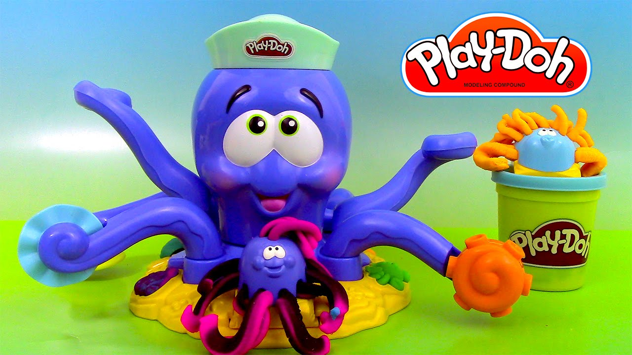 p te modeler la pieuvre poulpe play doh octopus youtube. Black Bedroom Furniture Sets. Home Design Ideas