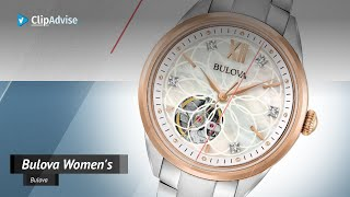 Bulova Women's Automatic-Self-Wind Watch With Stainless-Steel Strap, Two Tone, 15