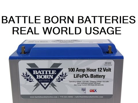 How long Battle Born lithium batteries last in an RV