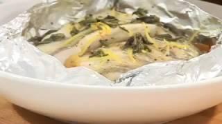 Судак, запеченный с овощами в фольге