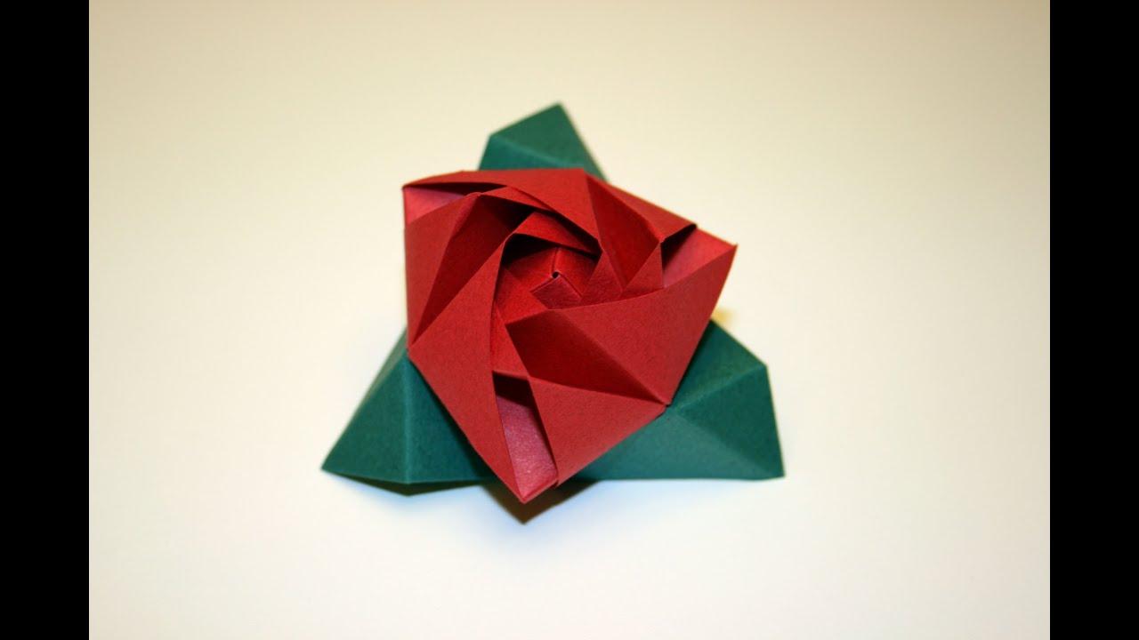 Origami tutorial magic rose cube youtube mightylinksfo
