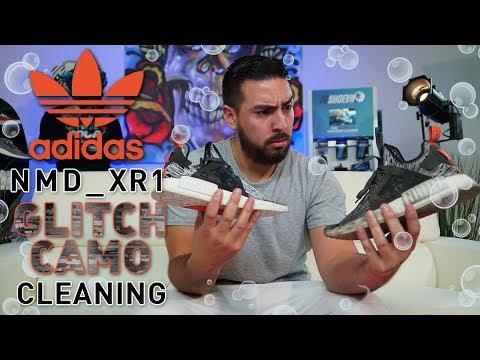 Cleaning Adidas #NMD XR1 Glitch Camo.