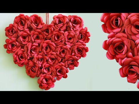 Beautiful Heart Wall Hanging Making at Home | DIY Room Decor 2018 | Handmade Things Paper Craft Idea