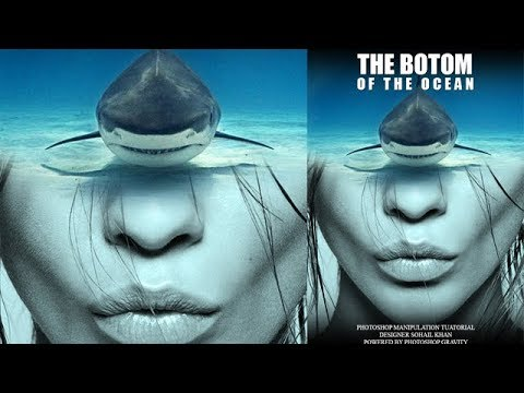 Photoshop Movie Poster Design Tutorial | The Bottom  of The Ocean