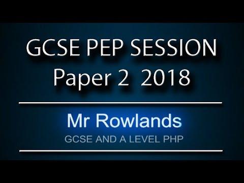 Computer Science GCSE Pep Session Paper 2