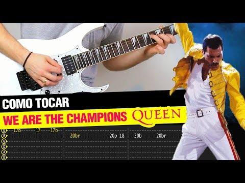 We Are The Champions QUEEN Tutorial Guitarra | TAB + COVER
