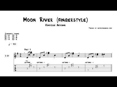Moon River TAB - fingerstyle classical guitar tab - PDF - Guitar Pro