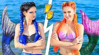 Makyaj Yarışması! 10 Kendin Yap Tarzı İyi Deniz Kızı Makyajı – Kötü Deniz Kızı Makyajına Karşı!