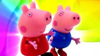 Фото Свинка Пеппа все серии подряд. Большие приключения Пеппы и Джорджа. Сборник мультфильмов