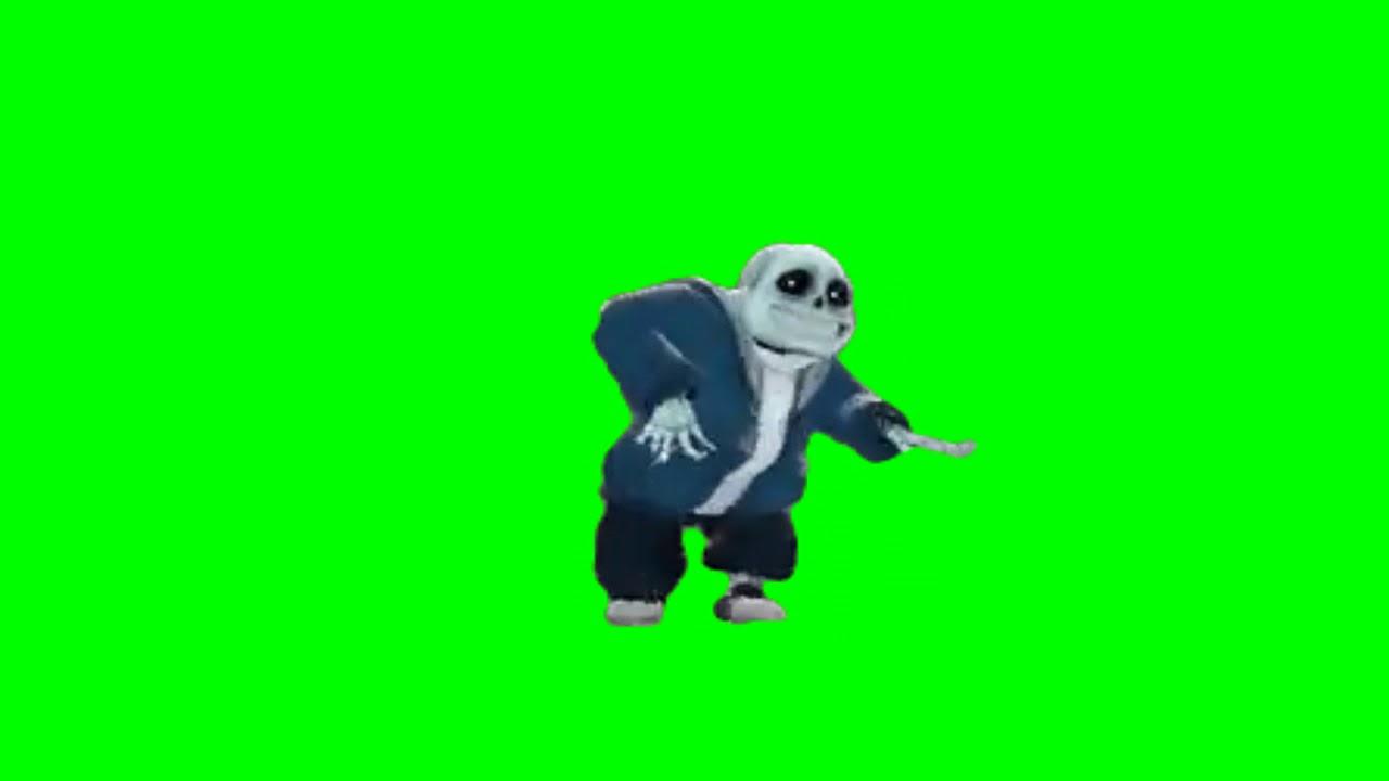 Sans fortnite default dance green screen version 1