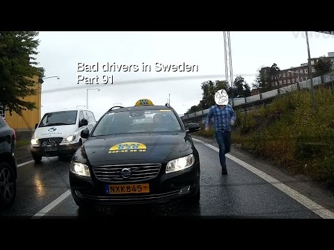 Bad Drivers in Sweden #91 Taxis, road games, cheaters and a badger.