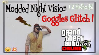 GTA 5 ONLINE- GLITCHED NIGHT VISION MASK! [HOW TO GET RARE MODDED NIGHT VISION GOGGLES GLITCH] 1.35