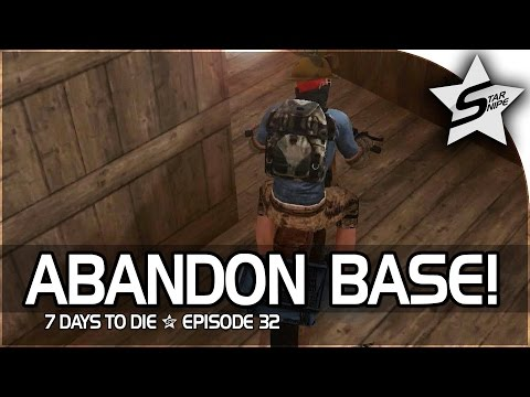 "7 Days to Die Xbox One Gameplay Part 32 - ""MINI BIKE TROUBLES, ABANDON BASE, DEADLY BEARS!"""