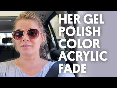 HER GEL POLISH COLOR ACRYLIC FADE (COLOR EXPLOSION) - VLOG 27