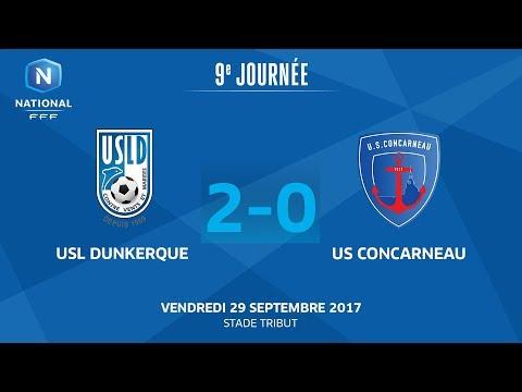 J9 : USL Dunkerque - US Concarneau (2-0), le replay