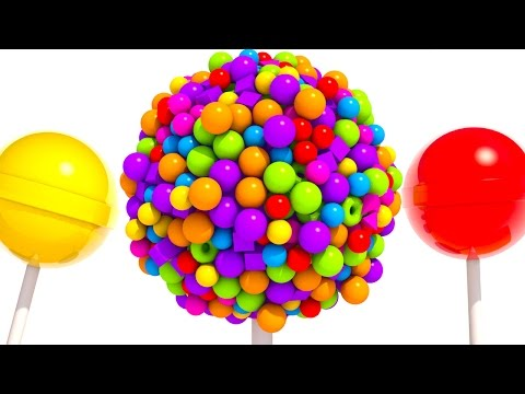 Thumbnail: Learning Colors with 3D Lollipops A lot of Candy Balls