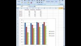 """طريقة عمل """"رسم بياني على الاكسل"""" 2007 و 2010 Excel"""