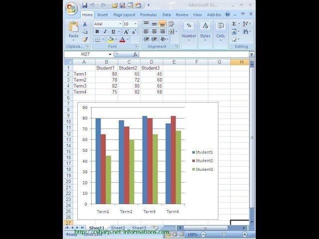 الرسم البياني في برنامج 15
