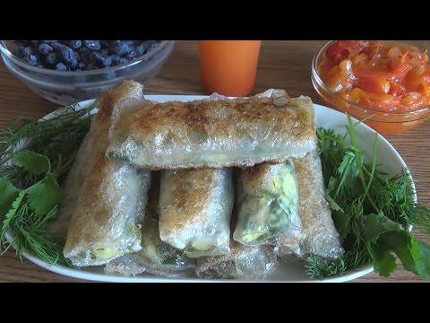 Весенние блинчики с зеленым луком и яйцом. Любимые пирожки в рисовой бумаге.