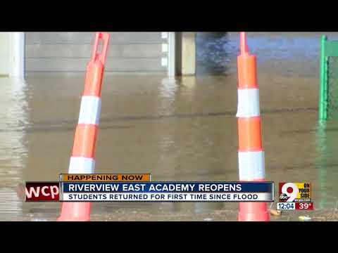 Riverview East Academy reopens after Ohio River flooding